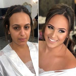 איפור כלה לפני ואחרי